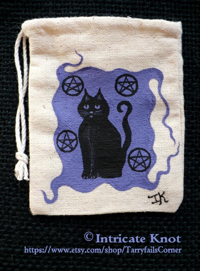 Black Cat Lavender Protection Bag